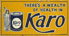 """KARO"" ADVERTISING METAL SIGN"