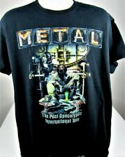 METAL Post Apocalyptic World Tour T-Shirt Size Large Rock Metal Concert Winger
