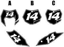2012-2013 KTM 350EXC-F Custom Pre-Printed Black Backgrounds White Pinstripe