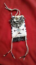 "Native North American Plains Indian Beaded Buckskin ""Strike A Light"" Bag Pouch"