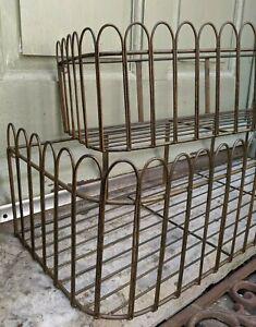 NEW Vintage Metal RUSTIC Shabby Chic Window TRUG Trough Basket Shelf PLANTERS