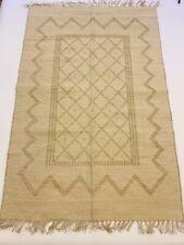 Eco Friendly Natural 100% JUTE Handmade Authentic Ethnic Design Gold Kilim Rugs