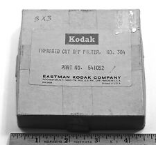 "Kodak No. 304 Infrared Glass Cutoff Filter 3""x3"""