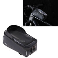 Bike Waterproof Front Tube Cycling Bag 6 inch Touchscreen Phone Case Holder