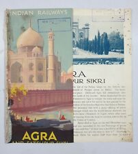 AGRA - 1930's Illustrated Guide INDIAN STATE RAILWAYS
