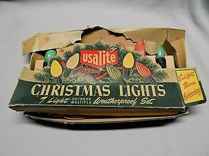 USALITE Vintage Christmas Tree Lights - Outdoor Weatherproof Set  #907