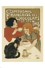 FRENCH TEA AND CHOCOLATE COMPANY vintage ad poster SINGULAR 24X36 hot NEW