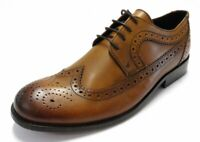 Ikon Mens Tan all Leather Brogue`s Shoes