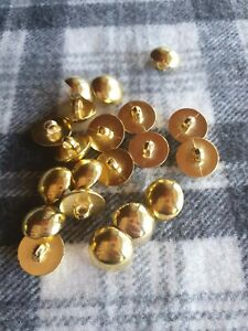 20 large 18mm gold domed plastic shank sewing coat craft knitting buttons