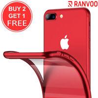 For iPhone 8 Plus 7 Plus Case Ultra Slim Clear Back TPU Plating Gel Cover Bumper
