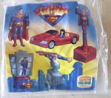 LOT DE 4 JOUETS BURGER KING / SUPERMAN / 1997 / EN SACHET