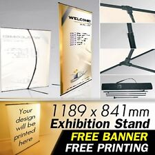 EXHIBITION TRADE SHOW PERSONALISED POSTER Display Stand Custom panel sign banner