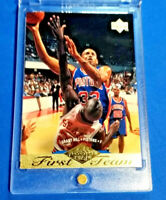 GRANT HILL RC 1995 UD FIRST TEAM ROOKIE CARD - GOLD FOIL - PISTONS, HOF