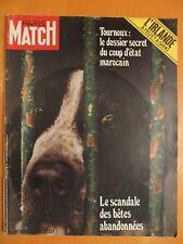 Paris Match N° 1163 du 21/08/1971-Scandale, bêtes abandonnées- Maroc coup d'état