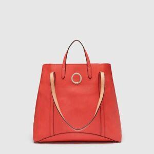 MIMCO LEATHER SOLIS TOTE BAG Tigerlily Red RRP$399 New Handbag