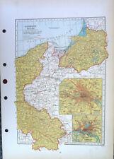 Map Of Germany East Eastern Part Hamburg Berlin C1930 Antique