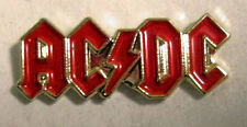 Metal Enamel Pin Badge Brooch ACDC Rock Band Red Gold