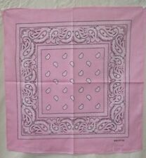 "Wholesale Lot 12 (1 Dozen) 22""x22"" Paisley Pink Bandana"