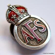 1940s WW2 Auxiliary Fire Service Brigade AFS ~British Army Military Collar Badge