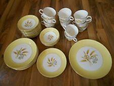 Old Vintage Century Service Semi Vitreous Autumn Gold China Dishes Set Lot 40 pc