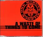 ONE MINUTE SILENCE - A WASTE OF THINGS TO COME - RARE 1998 PROMO CD SINGLE