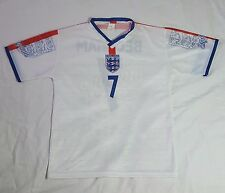 Beckham England Unofficial Futbol Soccer Jersey Size Small Made in Italy