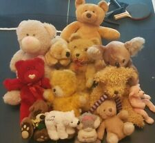 TEDDY BEAR SOFT TOYS! x 13! JOB LOT! BUNDLE! TEDDY BIG FOOT! TY! BEAR FACTORY!