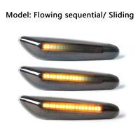 2X LED Dynamic Smoked Side Indicator Turn Signal Fit for BMW E90 E92 E60 E87 E82