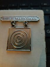 USMC STERLING SILVER RIFLE MARKSMAN MEDAL--SEE STORE--COMBINE SHIPPING SAVE $$$$