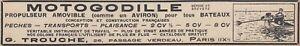 V6249 Motogodille Propulseur Amovible Pour Bateaux - 1929 Vintage Advertising