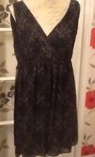 ladies dress,black/grey patton,size 16