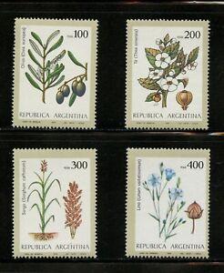 R813  Argentina 1979  flora olives tea flax  4v.    MNH