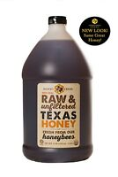 1 Gallon (12lb) Raw, Unfiltered Texas Honey. Non-GMO, Kosher. SHIPS FREE!