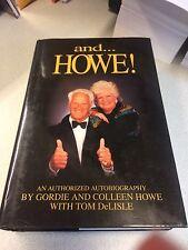 "Gordie Howe ""and...Howe!"" Signed Autographed Book Mr. Hockey Detroit Red Wings"
