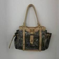Sharif Embossed Reptile Leather Satchel Tote Handbag Purse