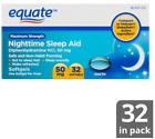 EQUATE MAXIMUM STRENGTH NIGHTTIME SLEEP AID SOFTGELS, 50 MG, 32 COUNT
