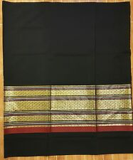 Long Skirts 100% Cotton Handmade Women's Sarong Wrap New Solid Black Gold XL