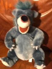"Baloo Bear 12"" Plush from Jungle Book From Disney Store Big Blue"