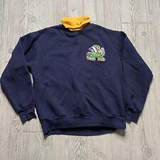 Vintage Notre Dame Fighting Irish Sweatshirt Size M Turtleneck Blue