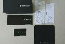 Genuine Luxury Tag Heuer Black Glasses Original Case + Cloth + Card + Box