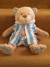 Smyths Toys My First Teddy Bear Soft Toy Comforter Blue Striped