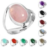 925 Sterling Silver Gemstone Ring Handmade Jewelry Size 5 6 7 8 9 10 11 12 ba414