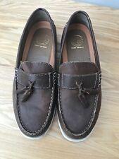 Mens KG BY KURT GEIGER SLIP ON tassle LOAFERS , BROWN shoes leather 8 42