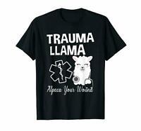 Ministry Of Trauma Llama Alpaca Your Wound Llama Lovers Cute Black T-Shirt S-6XL