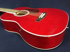 VGS Traveler 3/4 Size Steel-String Acoustic Guitar,Red w/Free gig bag,String Set