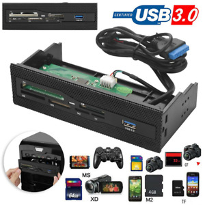 "USB 3.0 5.25"" Internal Card Reader Media Dashboard Front Panel Kartenleser"