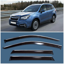 Chrome Trim Window Visors Guard Vent Deflectors For Subaru Forester 2012-2017