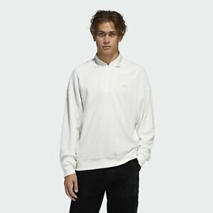 Adidas Men's Bouclette 1/4 Zip Shirt, Off White
