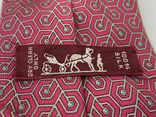 Men's Hermes 100% Silk Geometric Short Dress Shirt Neck Tie 7148 FA
