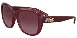 Coach Women's HC8207 54508H 57 Burgundy Gradient Plastic Square Sunglasses -